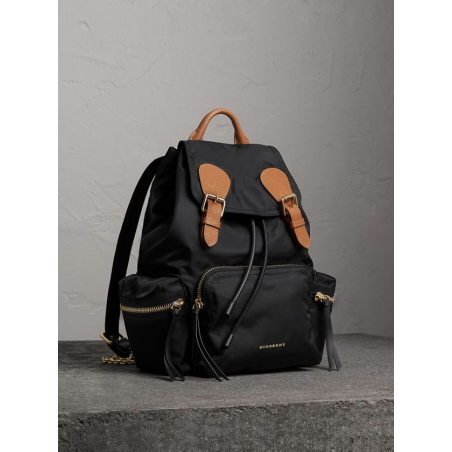 The Medium Rucksack in Vintage Check and Leather