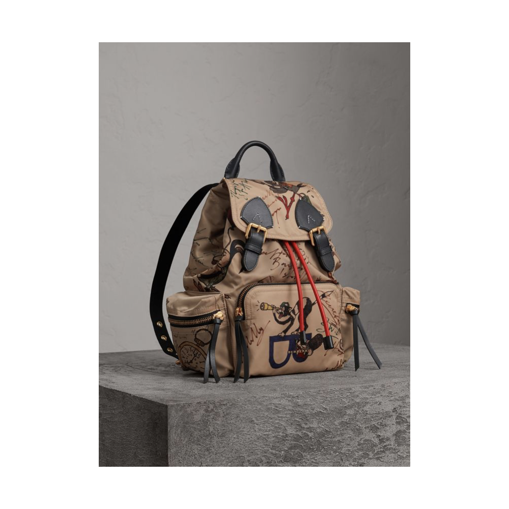 3601c0fc9 Burberry The Medium Rucksack in Vintage Check and Leather