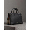 Burberry The Medium Banner in Leather and House Check Black