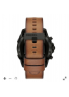 Diesel On Men's Touchscreen Smartwatch: Black IP and Brown Leather