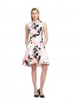 DKNY LEAF PRINT SHEATH DRESS DKNY - 3