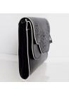 Nine West $69 NWT Ailey Clutch Bag Black White Shoulder Bag Chain Strap  - 1