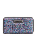 Betsey Johnson Sequin Zip Around Wallet BlackMulti