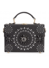 INC International Concepts Ayjay Box Clutch Black