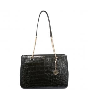 DKNY Bryant Medium Shopper Tote Black Croco