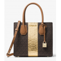 Mercer Logo and Embossed-Leather Crossbody Michael Kors - 2