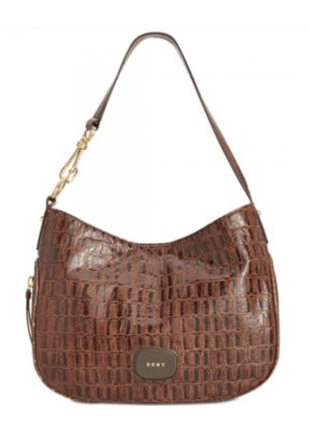 DKNY NEW Brown Croc Embossed Randall Large Hobo Shoulder Bag Purse. Tap to  expand df4ee2de9d2fb