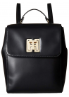 Tommy Hilfiger Womens TH Twist Smooth Leather Backpack