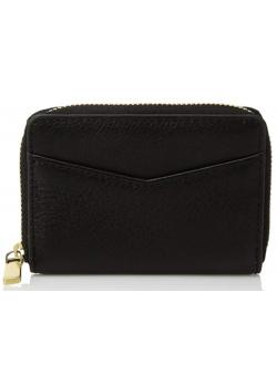 Black Fossil Rfid Mini Zip Wallet Wallet