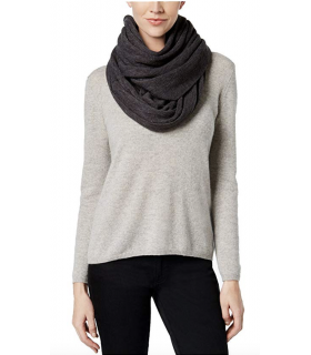 Calvin Klein Women's Oversized Infinity Loop Scarf, Heathered Coal (One Size)