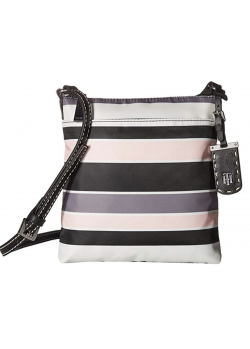 Tommy Hilfiger Womens Julia North/South Crossbody Nylon Victory Stripe