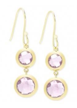 Victoria Townsend Amethyst (9 ct. t.w.) Bezel Drop Earrings in 18k Gold over Sterling Silver