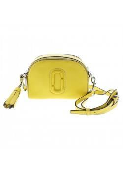 Marc Jacobs Womens Yellow Pebbled Camera Crossbody Handbag Purse Small BHFO 1866
