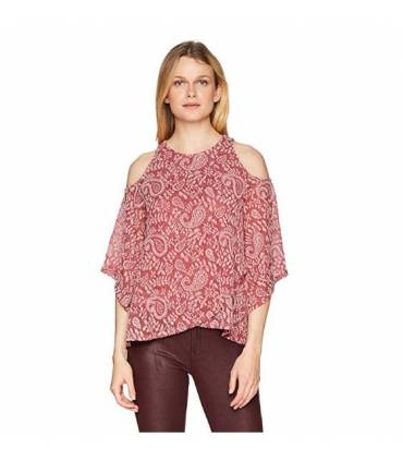 Lucky Brand Women's Cold Shoulder Open Front Top XL