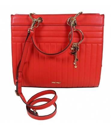Nine West Hazel Faux Leather Satchel Bag Purse