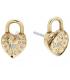 Michael Kors Womens Love Logo Heart Lock Stud Earrings