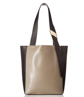 Calvin Klein Karsyn Nappa Leather Belted North/South Tote