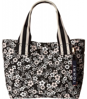 Tommy Hilfiger Womens Classic Tommy Shopper Dogwood Canvas Tote