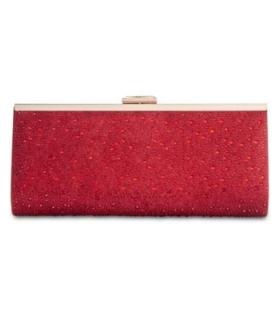 INC International Concepts Carolyn Ombre Glitter Clutch RedGold