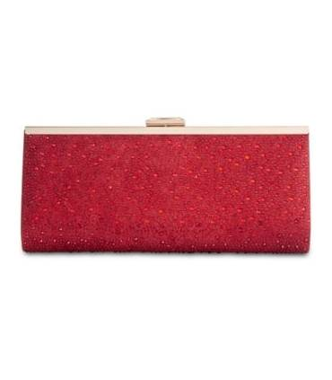 INC International Concepts Carolyn Ombre Glitter Clutch RedGold