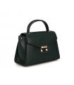 Michael Kors Whitney Medium Leather Satchel Bag Handbag Crossbody Green Gold Michael Kors - 2