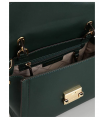 Michael Kors Whitney Medium Leather Satchel Bag Handbag Crossbody Green Gold Michael Kors - 3