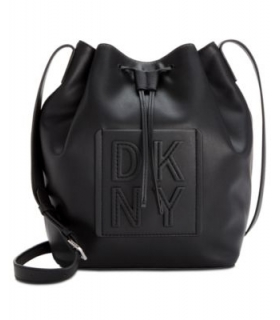 DKNY Tilly Stack Drawstring Bucket Azure