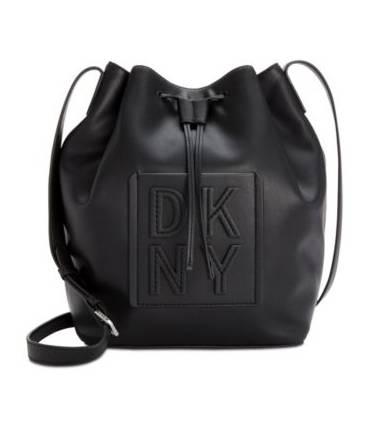 DKNY Tilly Stack Drawstring Bucket Azure