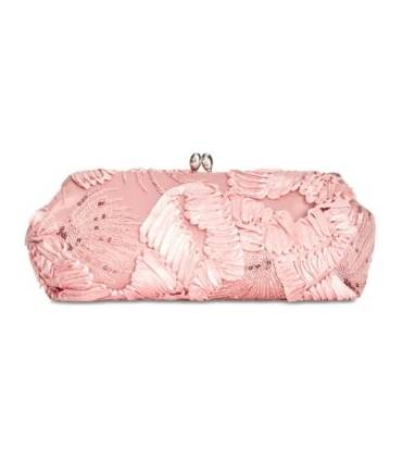 Adrianna Papell Sia Embroidered Small Clutch Blush