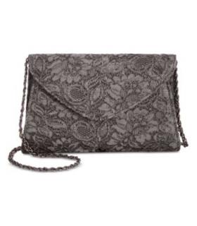Adrianna Papell Seta Lace Small Envelope Clutc Blush