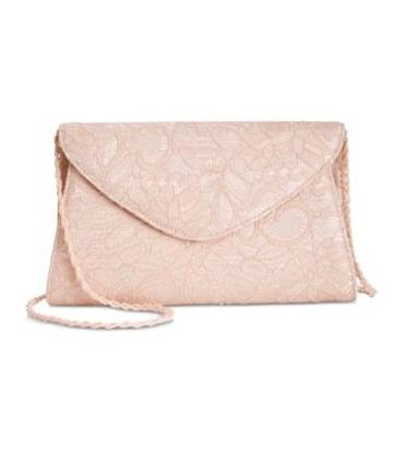 Adrianna Papell Seta Lace Small Envelope Clutc Midnight