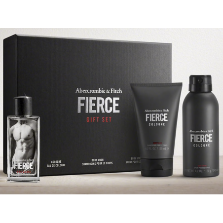 Abercrombie & Fitch FIERCE GIFT SET Cologne – Body Wash – Body Spray