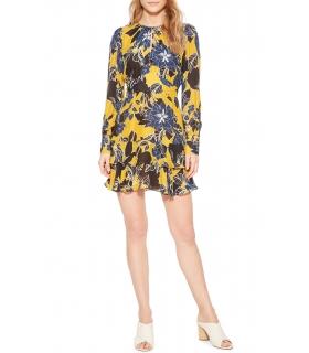 Parker Hayley Floral Print Keyhole Dress size 10