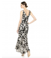 Calvin Klein Women's V-Neck Gown with High Low Flounce Hem Calvin Klein - 3