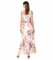 Calvin Klein Women's Sleeveless V-Neck Gown with Shirred Bodice Dress Calvin Klein - 3