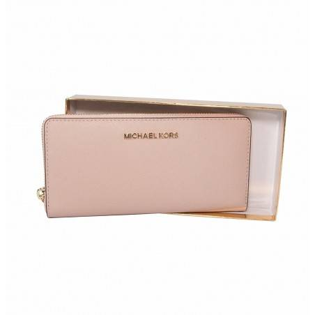 Michael Kors Giftables Jet Set Zip Around Continental Saffiano Leather Wallet Clutch