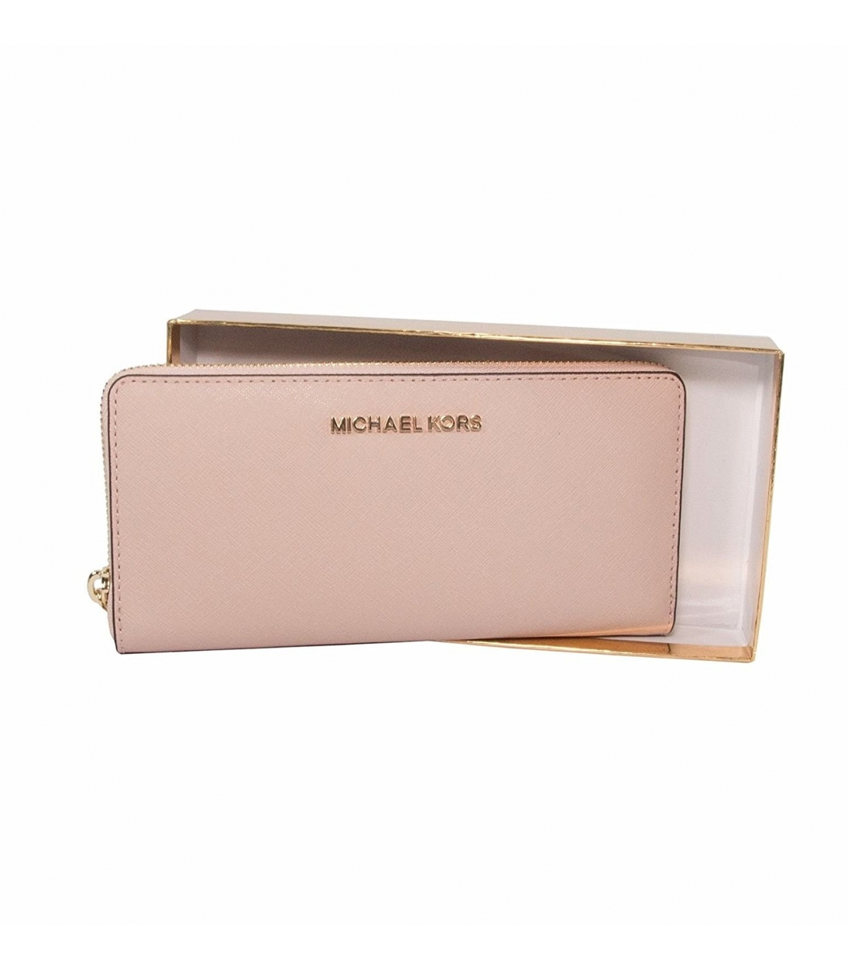 4014969a7e6c Michael Kors Giftables Jet Set Zip Around Continental Saffiano Leather  Wallet Clutch