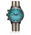 Welder Moody Green Reversible Nylon Dual Time Watch with Date 45mm