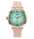 Welder Moody Pink Leather 3 Hand Rose Gold-Tone Watch with Date 38mm