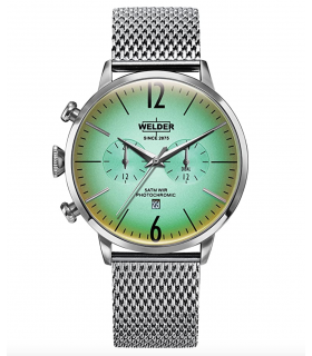 Welder Moody Stainless Steel Mesh Dual Time Watch with Date 45mm