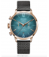 Welder Moody Stainless Steel Gunmetal Mesh Dual Time Rose Gold-Tone Watch with Date 42mm