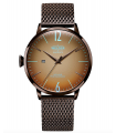 Welder Moody Stainless Steel Brown Mesh 3 Hand Watch with Date 45mm