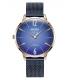 WELDER Women's Slim Blue Stainless Steel Mesh Bracelet Watch 36mm