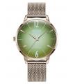 WELDER Women's Slim Rose Gold-Tone Stainless Steel Mesh Bracelet Watch 36mm