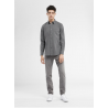 HEATHERED STRETCH BUTTON DOWN