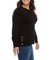 3X Michael Kors Plus Size Side-Snap Crewneck Sweater