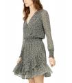 Michael Kors Floral-Print Faux-Wrap Dress