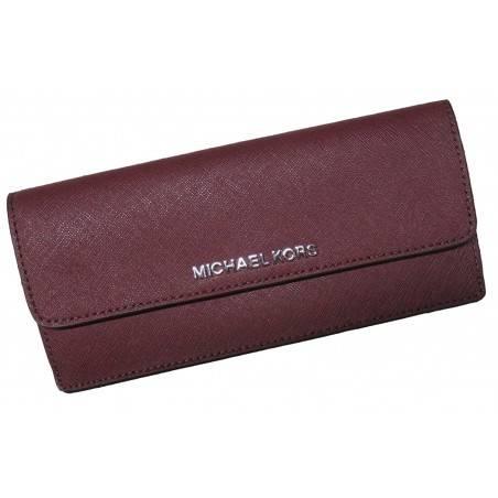 Michael Kors Jet Set Travel Flat Saffiano Leather Wallet Plum/Blossom Michael Kors - 1