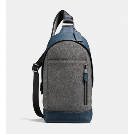 Manhattan Sling Pack In Colorblock DENIM/GRAPHITE/BLACK ANTIQUE NICKEL Coach - 2