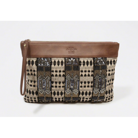 Abercrombie EMBELLISHED CANVAS CLUTCH Abercrombie - 1